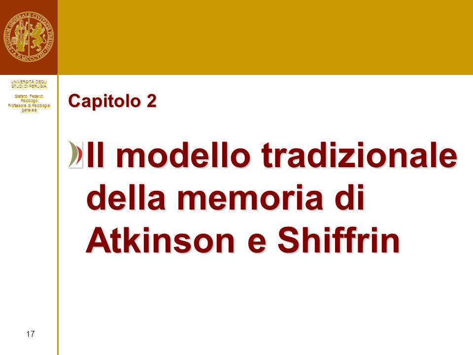 Il modello tradizionale della memoria di Atkinson e Shiffrin