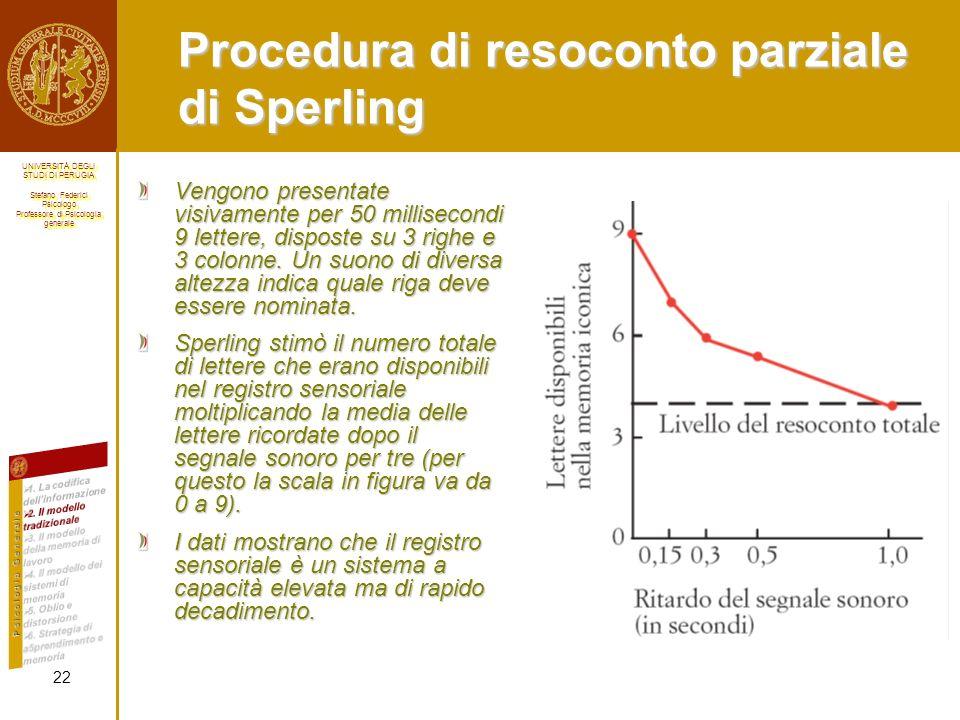 Procedura di resoconto parziale di Sperling