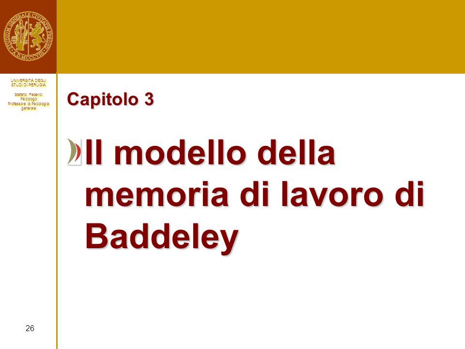 Il modello della memoria di lavoro di Baddeley