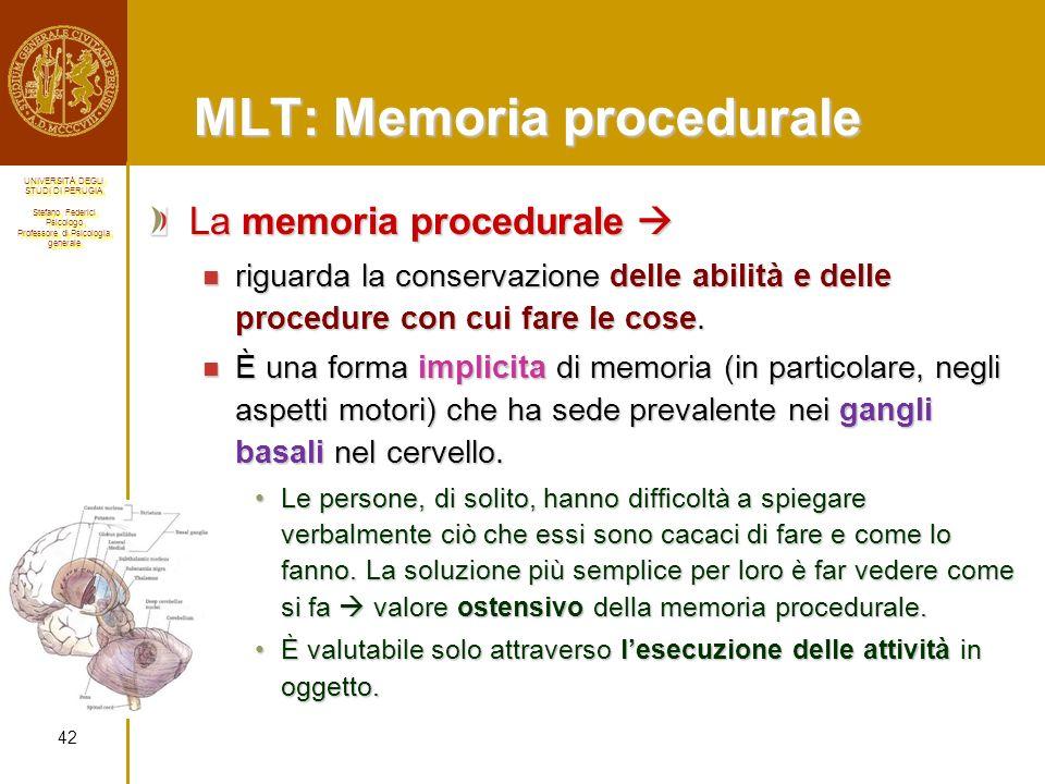 MLT: Memoria procedurale