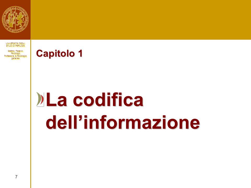 La codifica dell'informazione