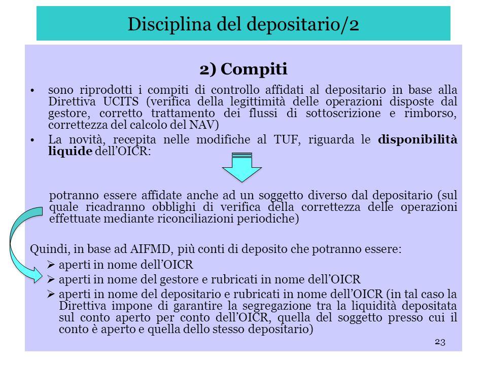 Disciplina del depositario/2