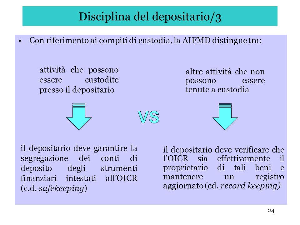 Disciplina del depositario/3