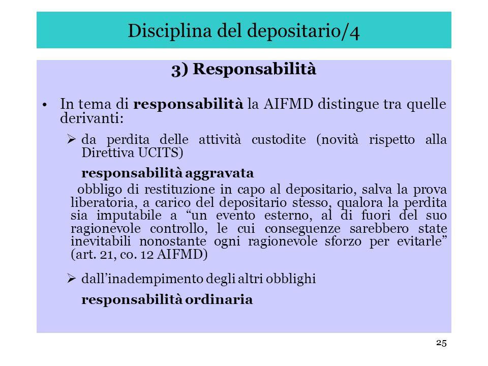 Disciplina del depositario/4