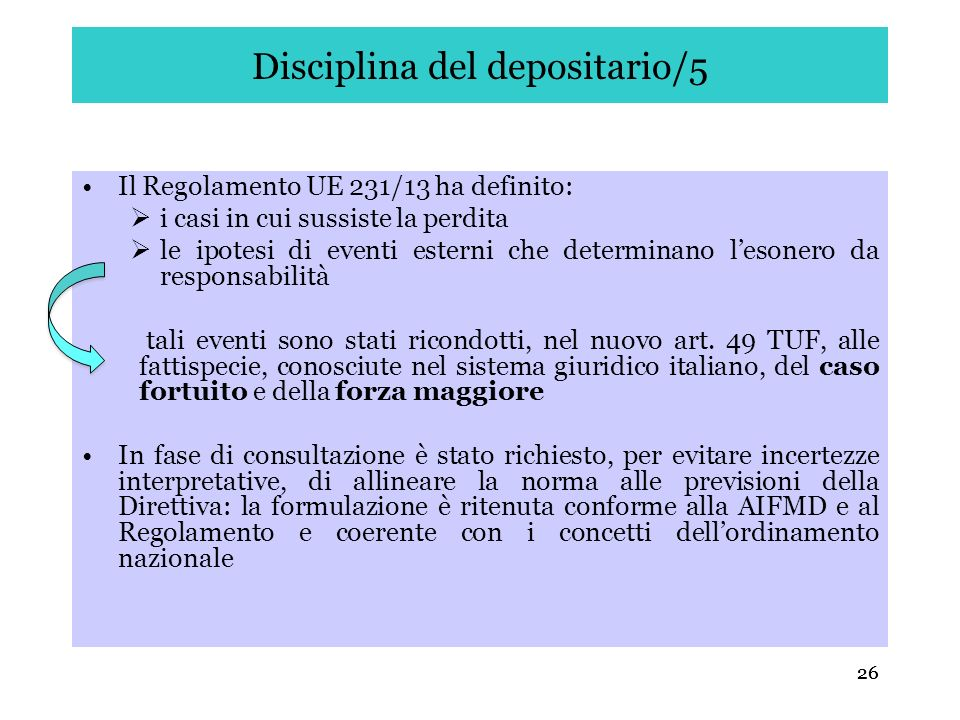Disciplina del depositario/5