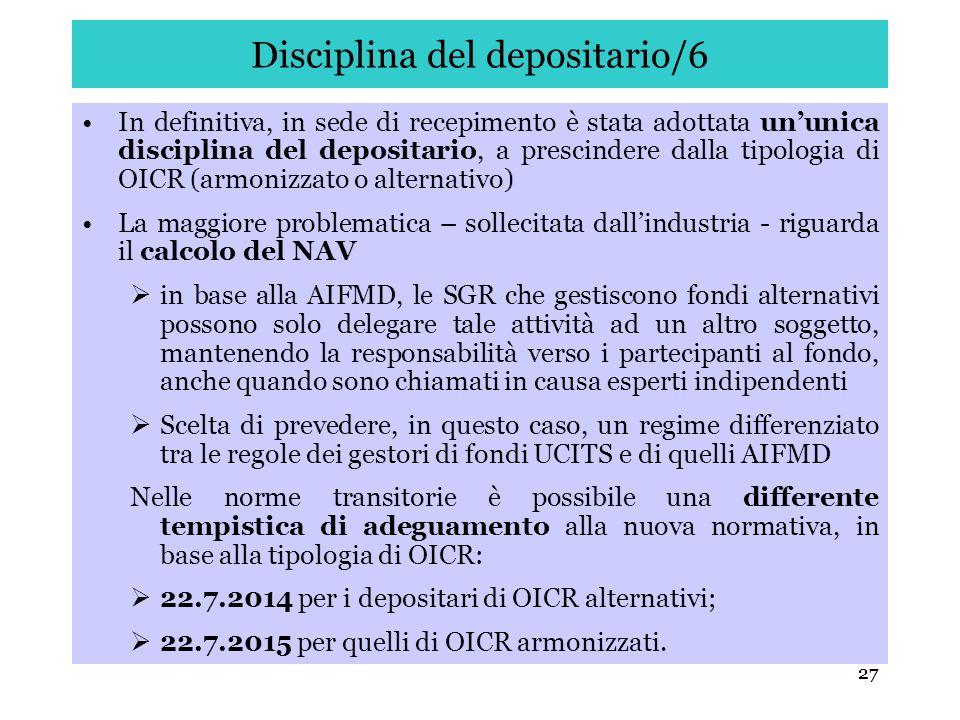 Disciplina del depositario/6