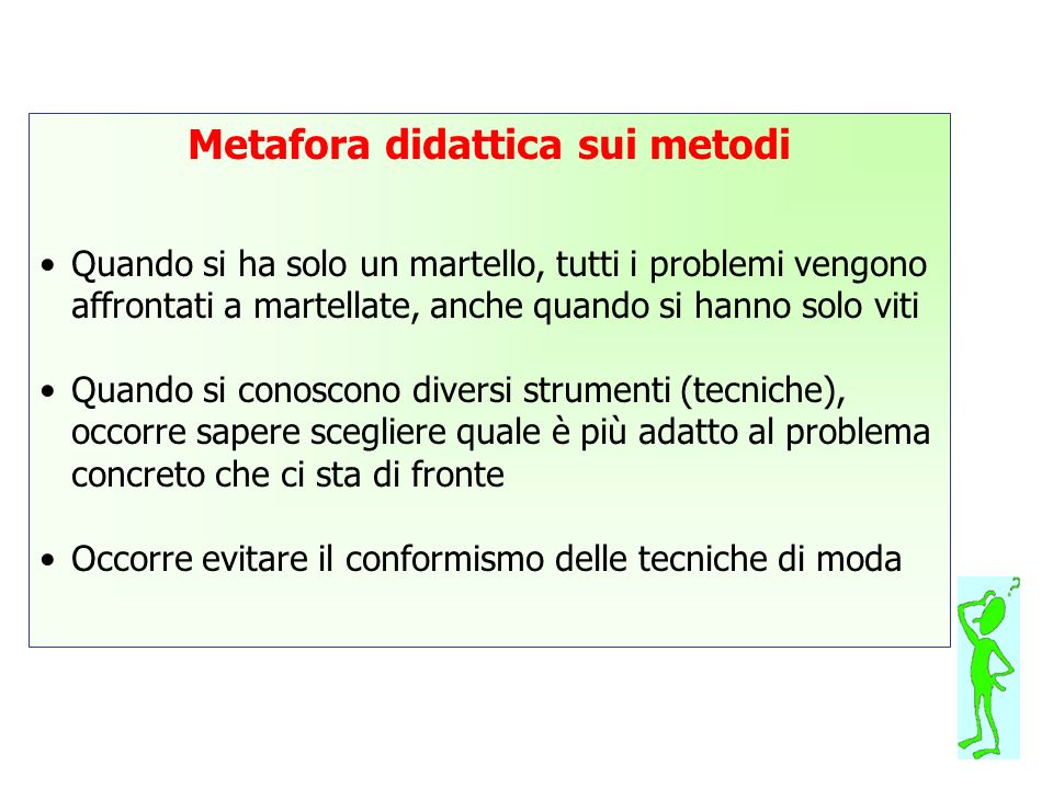 Metafora didattica sui metodi