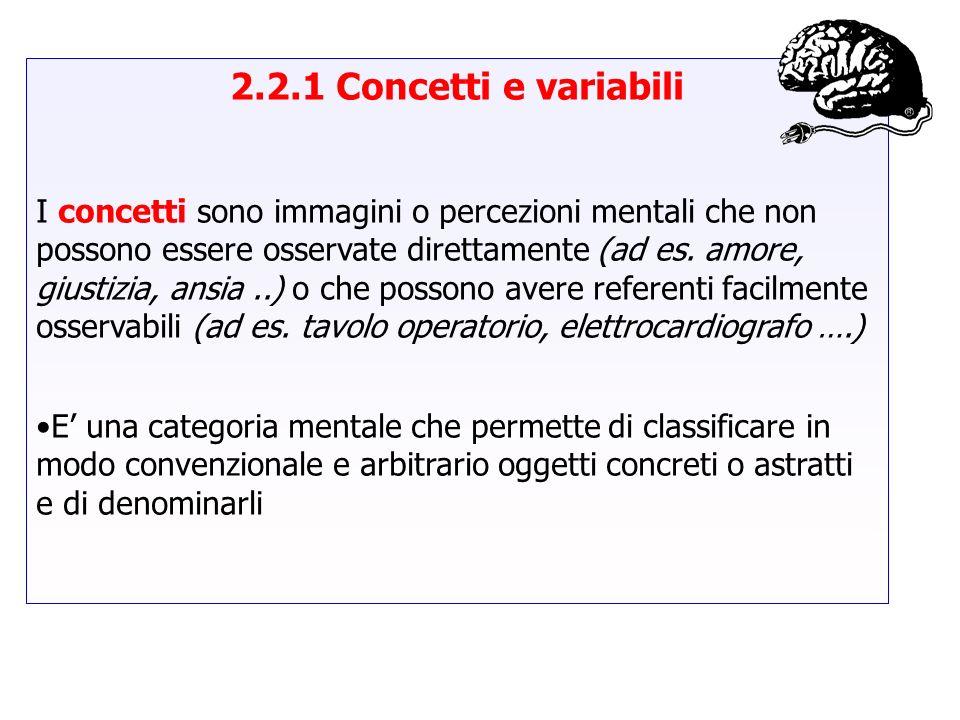 2.2.1 Concetti e variabili
