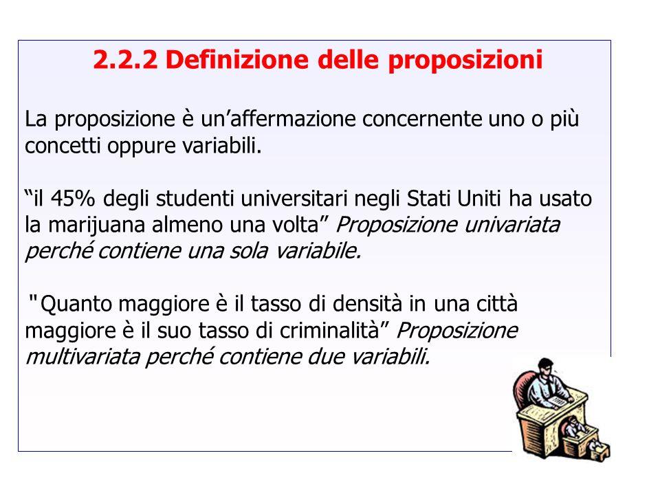 2.2.2 Definizione delle proposizioni