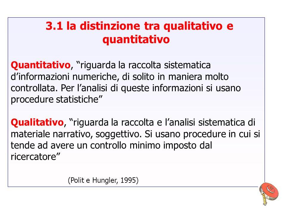 3.1 la distinzione tra qualitativo e quantitativo