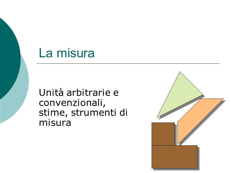 Unità arbitrarie e convenzionali, stime, strumenti di misura