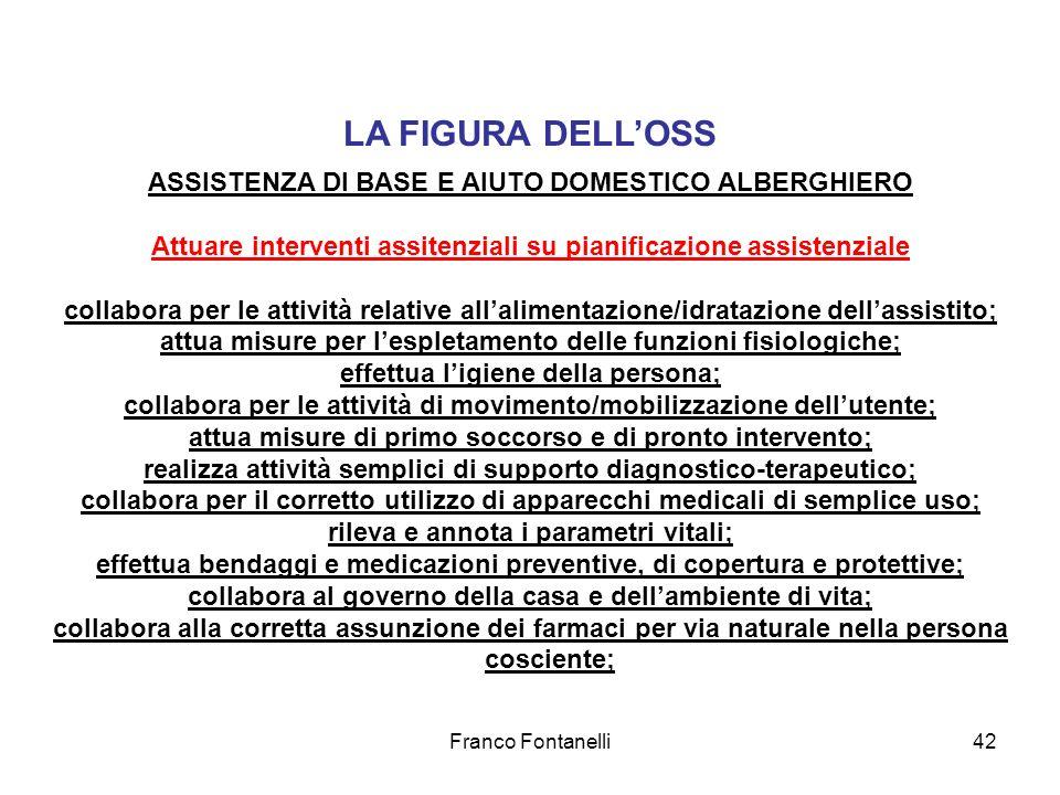 LA FIGURA DELL'OSS ASSISTENZA DI BASE E AIUTO DOMESTICO ALBERGHIERO