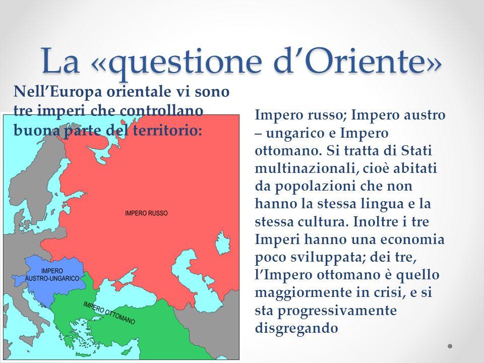 La «questione d'Oriente»