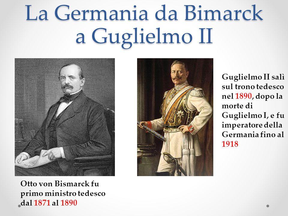 La Germania da Bimarck a Guglielmo II