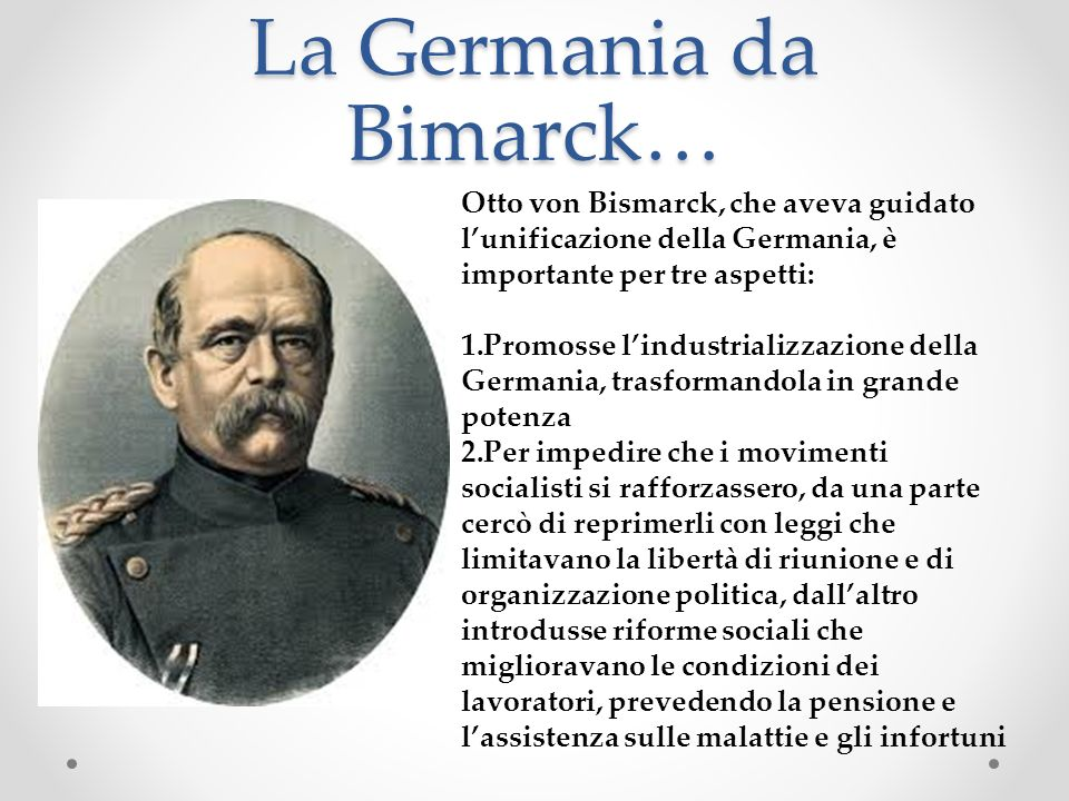 La Germania da Bimarck…