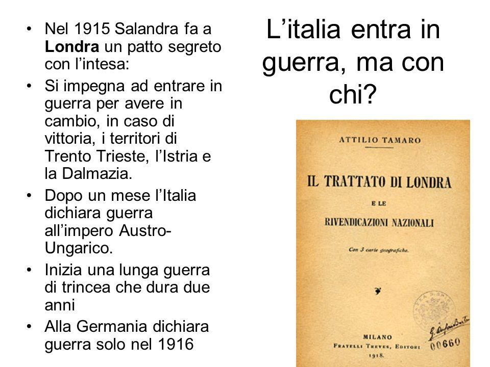 L'italia entra in guerra, ma con chi