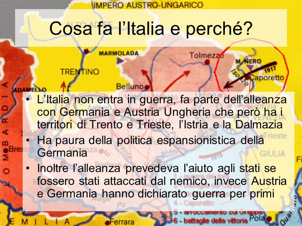 Cosa fa l'Italia e perché