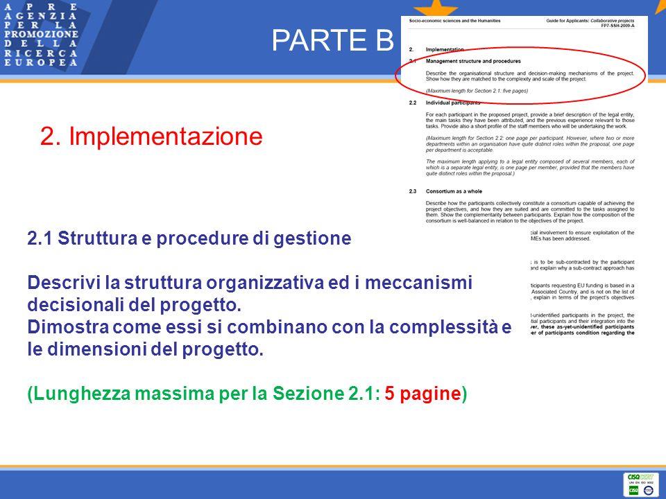 PARTE B 2. Implementazione 2.1 Struttura e procedure di gestione