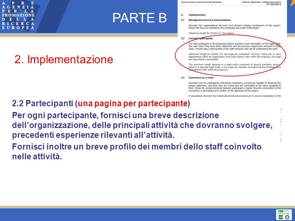 PARTE B 2. Implementazione
