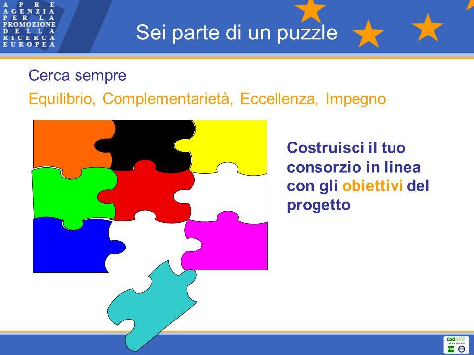 Sei parte di un puzzle Cerca sempre