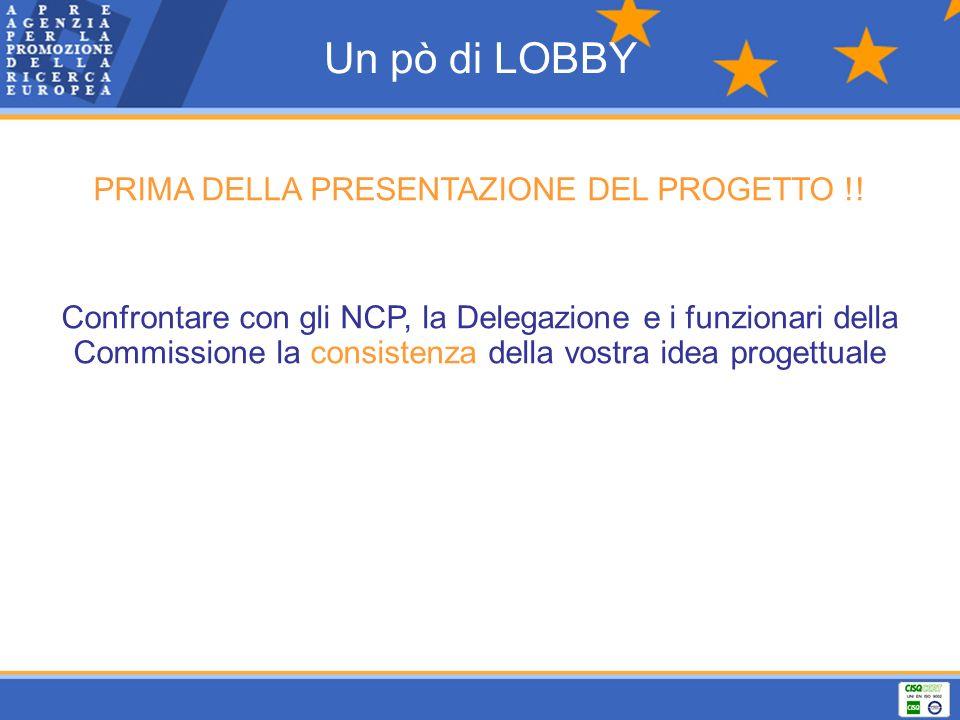 PRIMA DELLA PRESENTAZIONE DEL PROGETTO !!