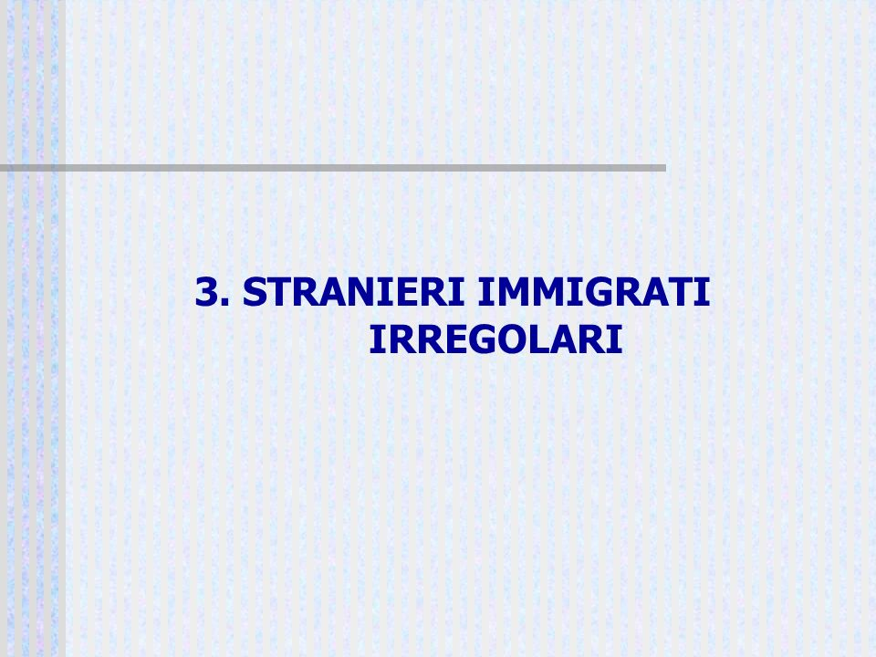 3. STRANIERI IMMIGRATI IRREGOLARI