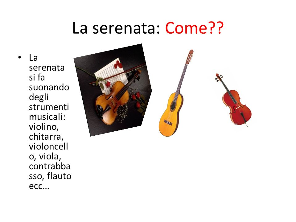 La serenata: Come .