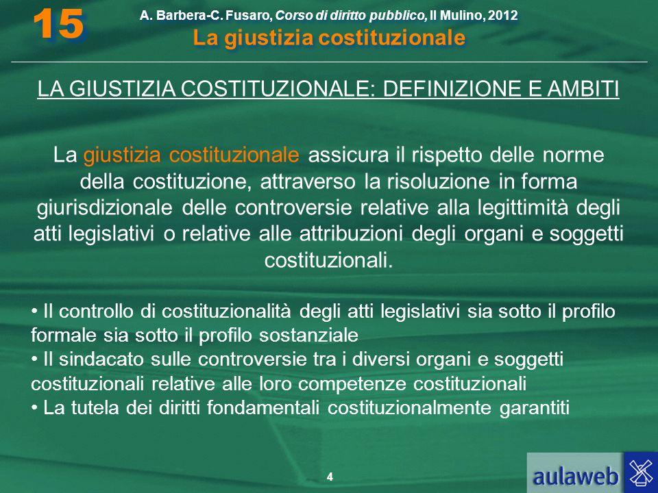 LA GIUSTIZIA COSTITUZIONALE: DEFINIZIONE E AMBITI