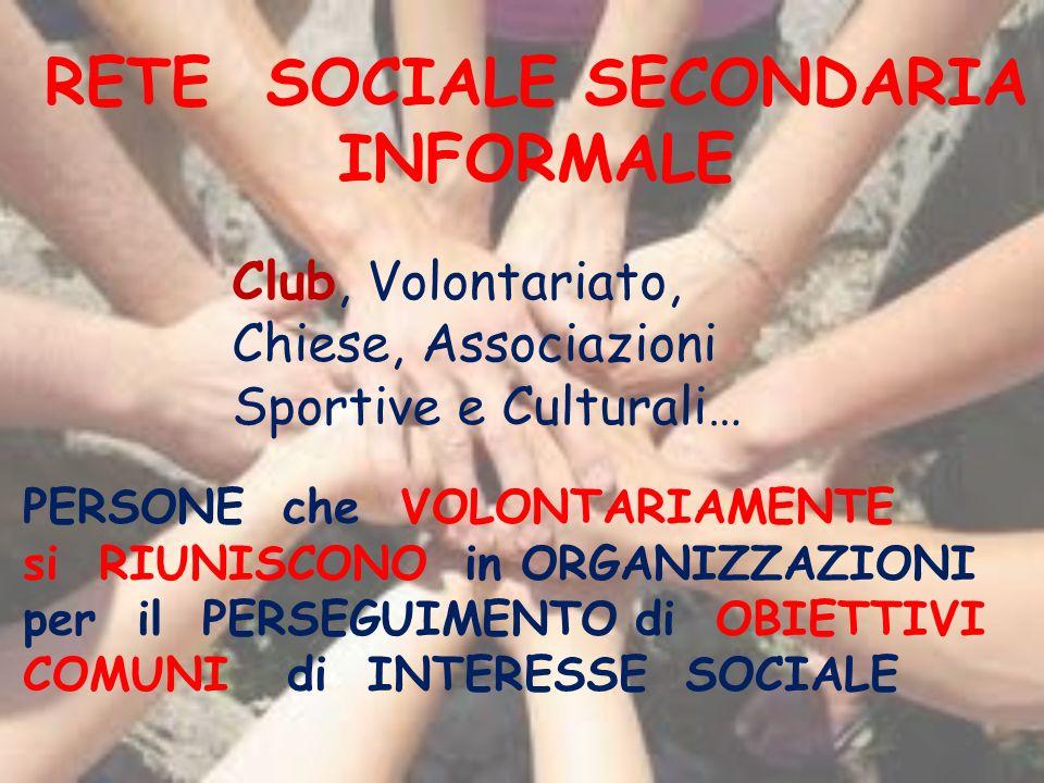 RETE SOCIALE SECONDARIA INFORMALE