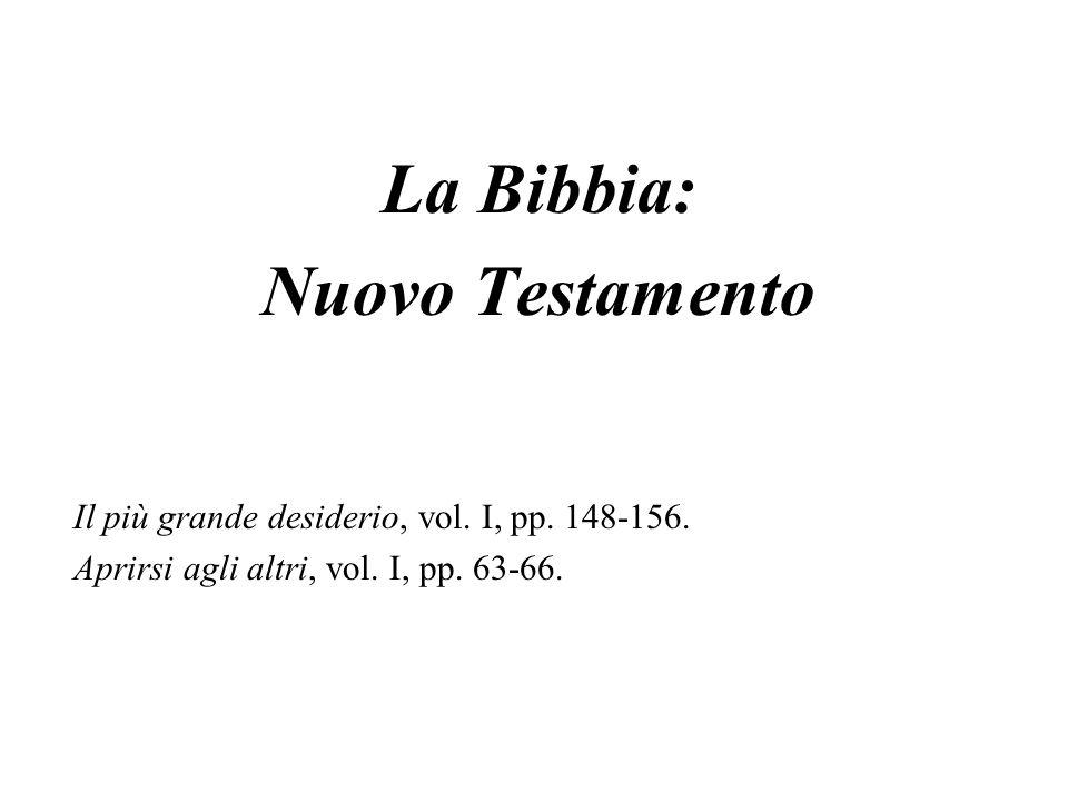 La Bibbia: Nuovo Testamento