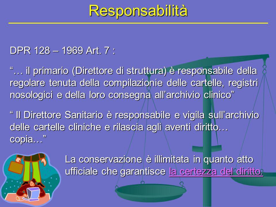 Responsabilità DPR 128 – 1969 Art. 7 :