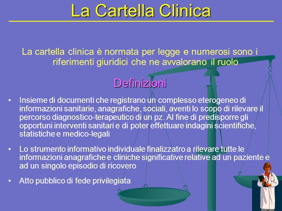 La Cartella Clinica Definizioni