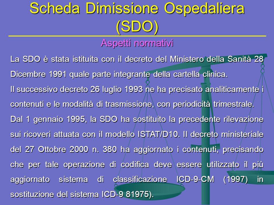 Scheda Dimissione Ospedaliera (SDO)