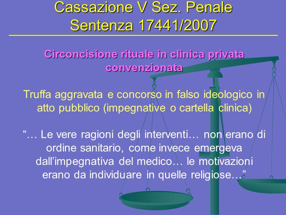 Circoncisione rituale in clinica privata convenzionata