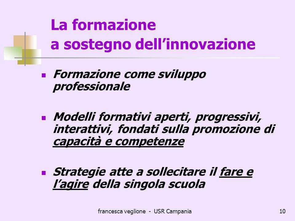 La formazione a sostegno dell'innovazione