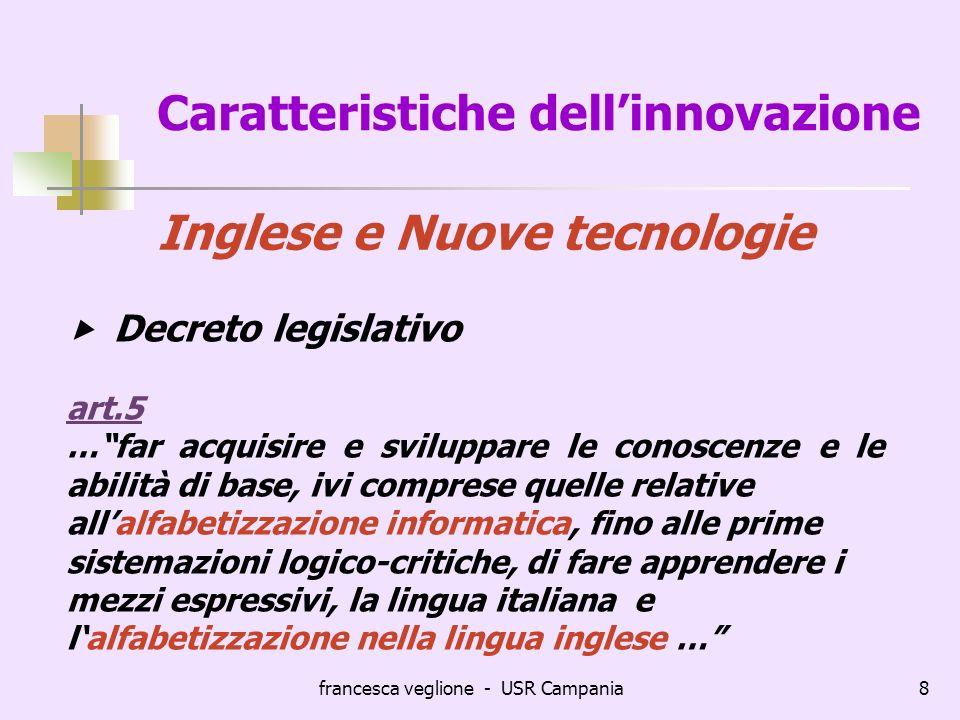 Caratteristiche dell'innovazione