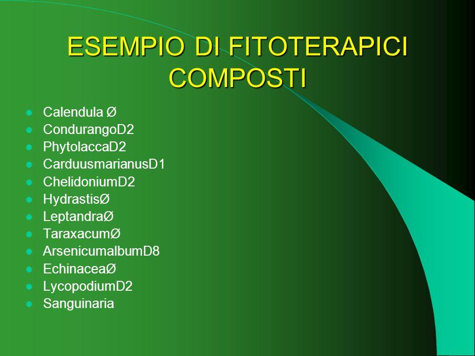 ESEMPIO DI FITOTERAPICI COMPOSTI