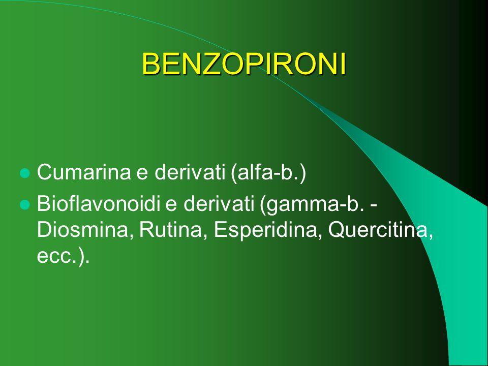 BENZOPIRONI Cumarina e derivati (alfa-b.)
