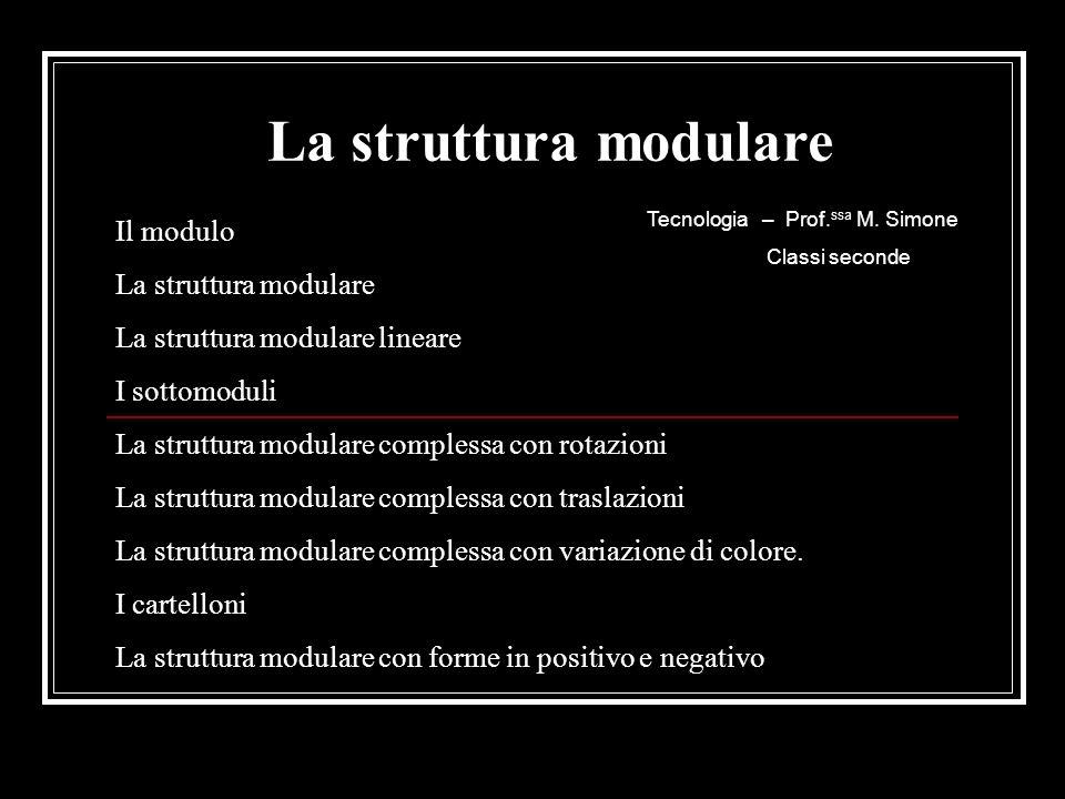La struttura modulare Il modulo La struttura modulare lineare