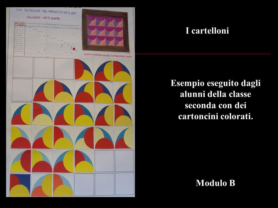 I cartelloni Esempio eseguito dagli alunni della classe seconda con dei cartoncini colorati.