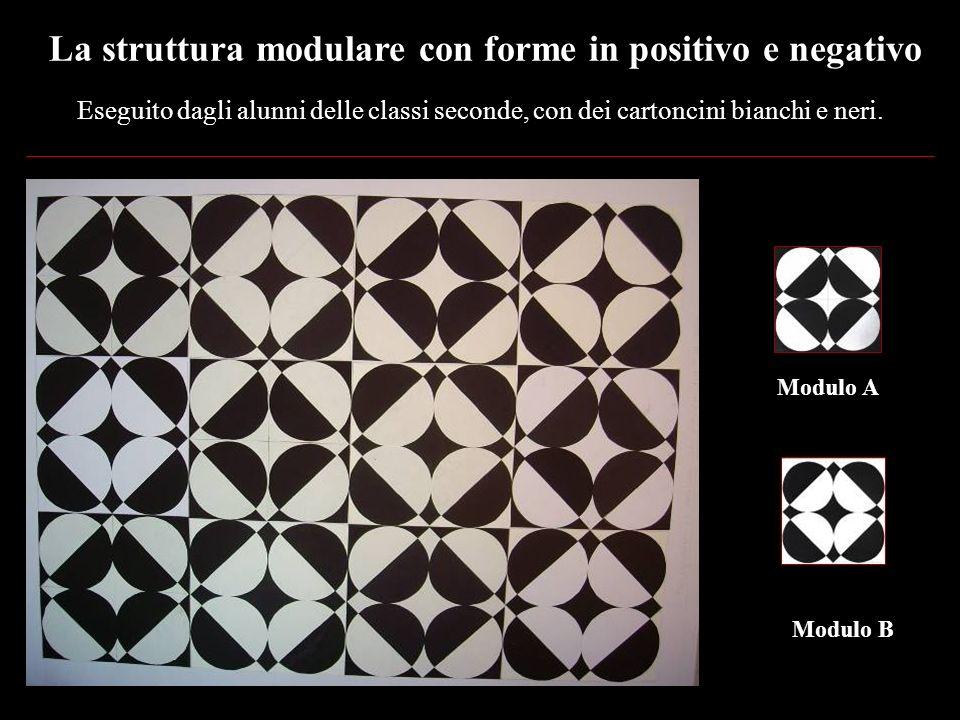 La struttura modulare con forme in positivo e negativo