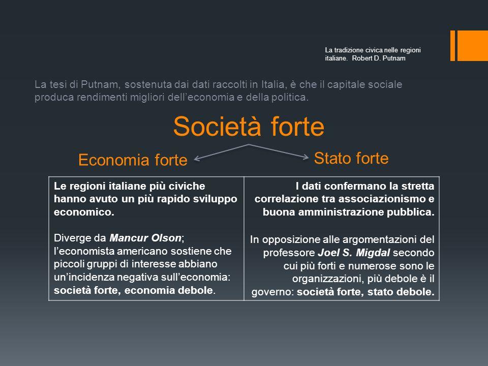 Società forte Stato forte Economia forte