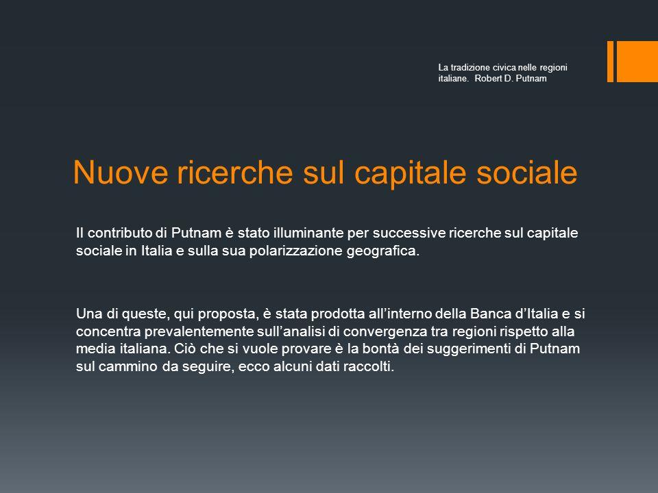 Nuove ricerche sul capitale sociale