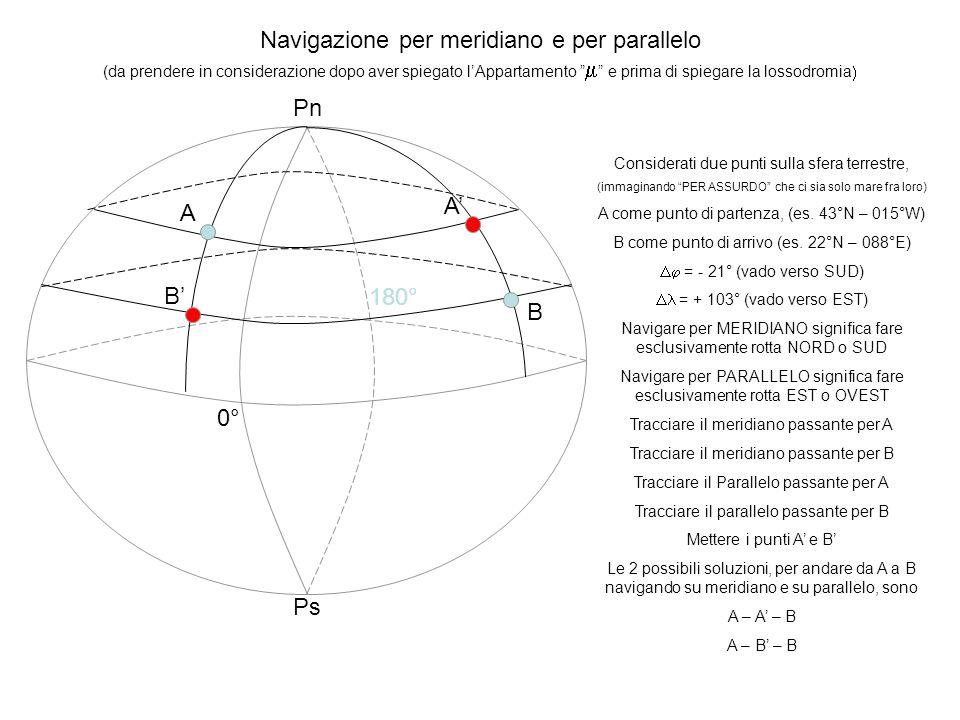Navigazione per meridiano e per parallelo
