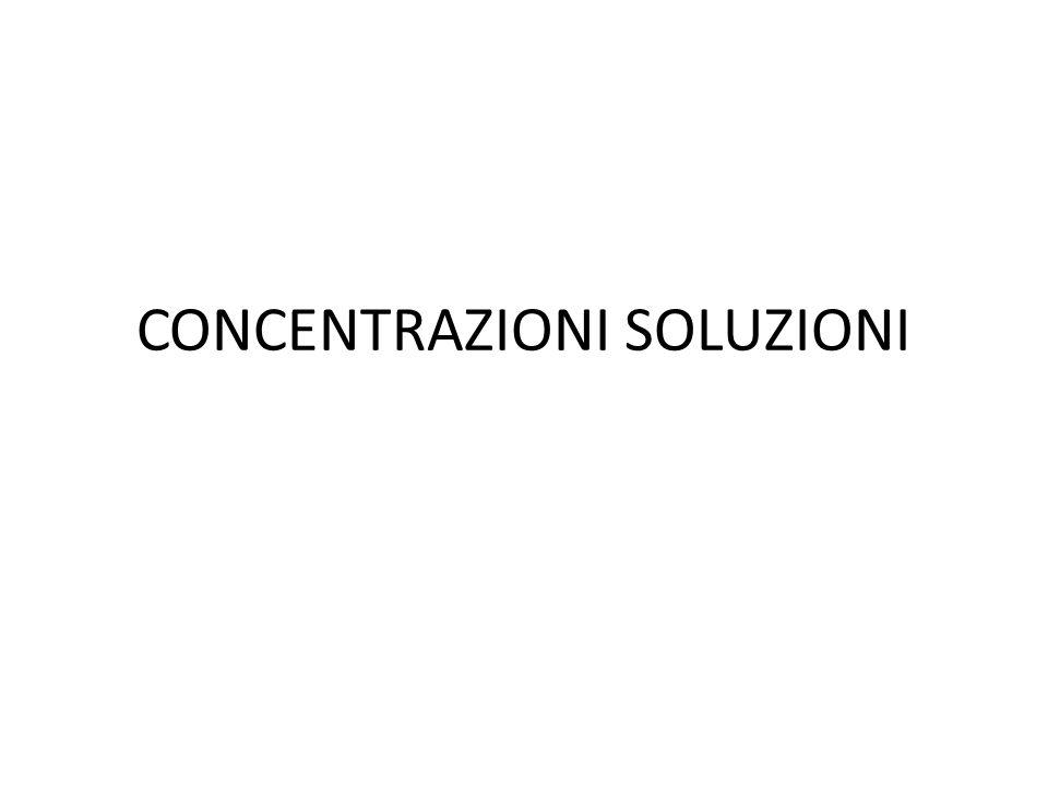CONCENTRAZIONI SOLUZIONI