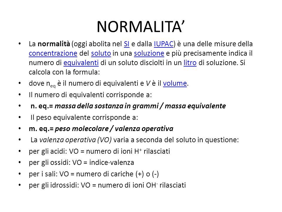 NORMALITA'