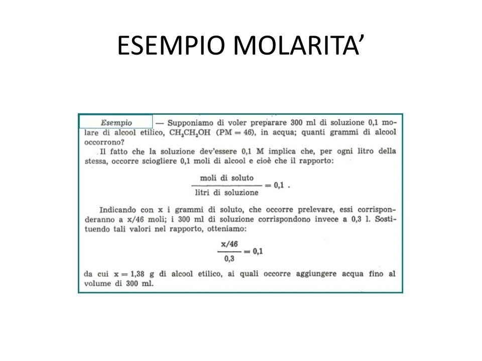 ESEMPIO MOLARITA'