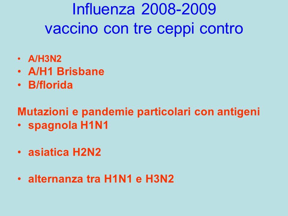 Influenza 2008-2009 vaccino con tre ceppi contro