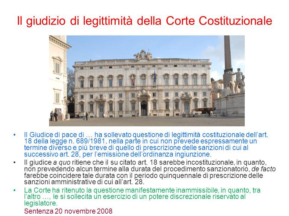 Il giudizio di legittimità della Corte Costituzionale
