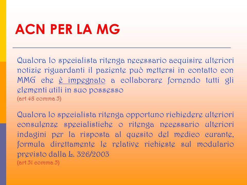 ACN PER LA MG